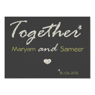 Islamic wedding engagement bismillah modern paper card