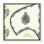 Islamic wedding engagement falcon damask invite 13 cm x 13 cm square invitation card