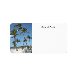 Islamorada Florida Address Label