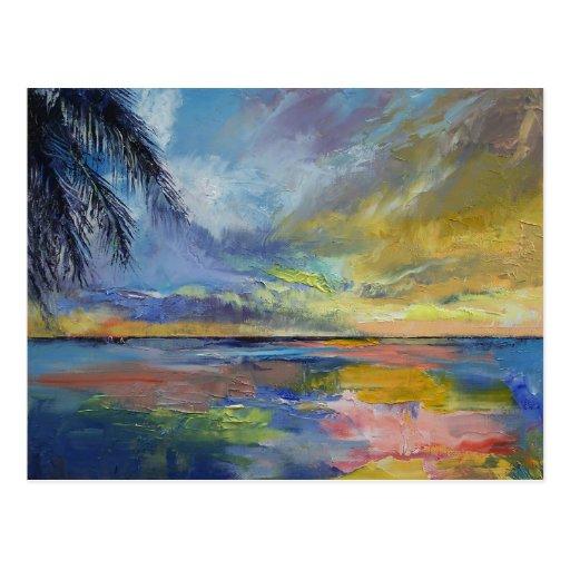 Islamorada Sunset Postcard