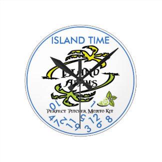 Island Adam Island Time Wall Clock