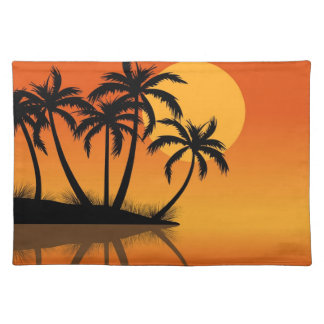 Island at Sunset place mat