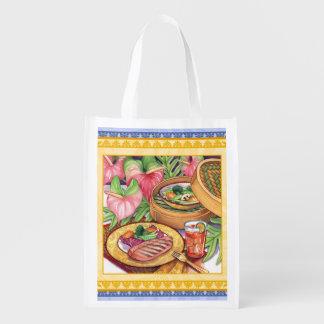 Island Cafe - Bamboo Steamer Reusable Grocery Bag