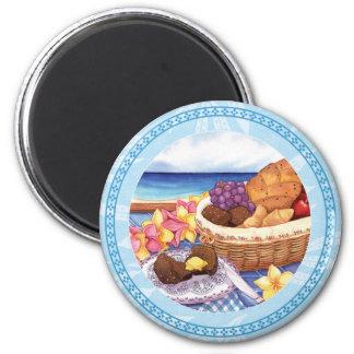 Island Cafe - Breakfast Lanai 6 Cm Round Magnet