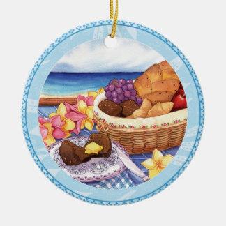 Island Cafe - Breakfast Lanai Round Ceramic Decoration