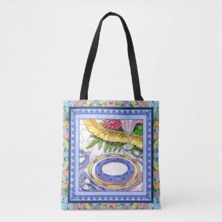 Island Cafe - Ginger Lei Place Setting Tote Bag