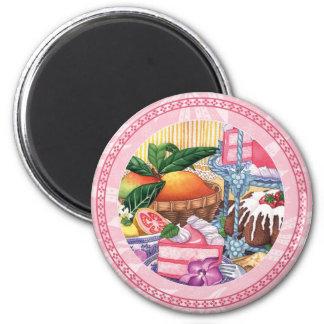 Island Cafe - Guava Chiffon Dessert 6 Cm Round Magnet