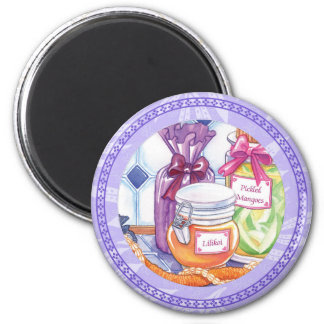 Island Cafe - Lilikoi and Pickled Mangoes 6 Cm Round Magnet