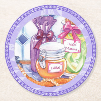 Island Cafe - Lilikoi and Pickled Mangoes Round Paper Coaster