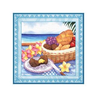 Island Cafe - On the Lanai Canvas Print