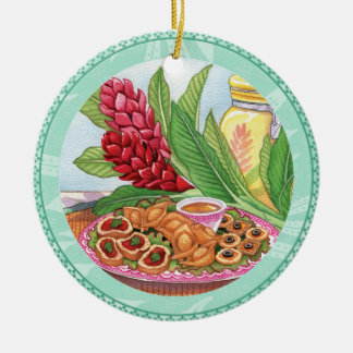 Island Cafe - Party Pupus Christmas Ornament