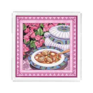 Island Cafe - Soup is Served Acrylic Tray