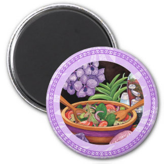 Island Cafe - Tropical Salad 6 Cm Round Magnet