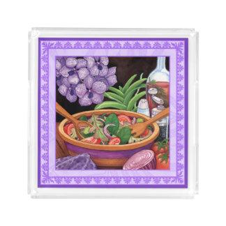 Island Cafe - Tropical Salad Acrylic Tray