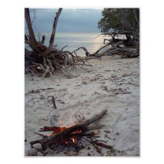 Island Campfire Photo Print