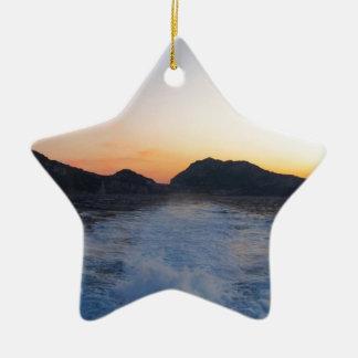 Island Capri at Sunset Ceramic Star Decoration
