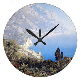 Island Capri Italy Ocean Mediterranean Wall Clock