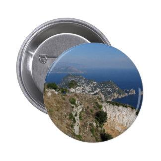 Island Capri view with Faraglioni at the back Button