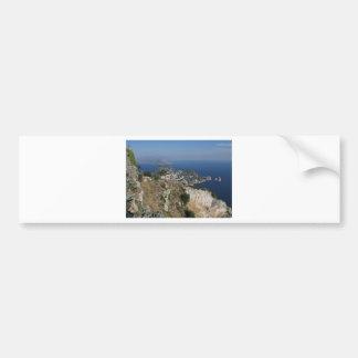 Island Capri view with Faraglioni at the back Bumper Stickers