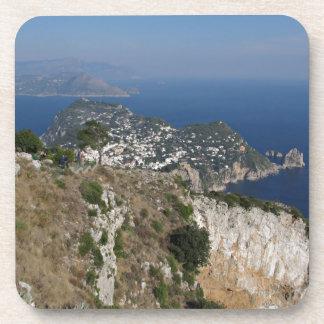 Island Capri view with Faraglioni at the back Drink Coaster