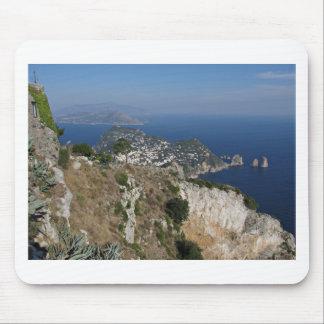 Island Capri view with Faraglioni at the back Mousepad