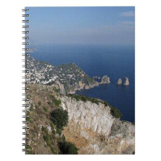 Island Capri view with Faraglioni at the back Journal