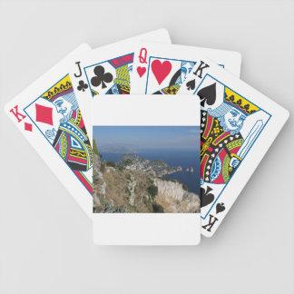 Island Capri view with Faraglioni at the back Bicycle Card Decks