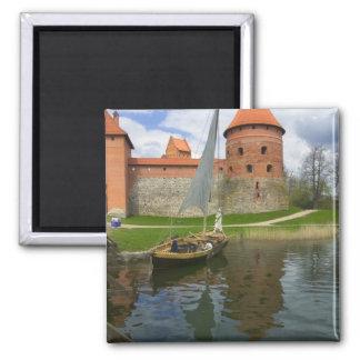 Island Castle by Lake Galve, Trakai, Lithuania Magnet