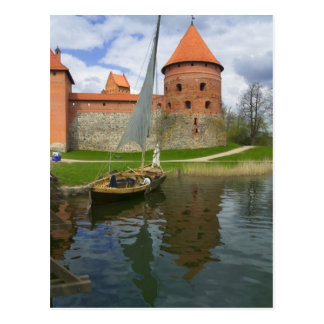 Island Castle by Lake Galve, Trakai, Lithuania Postcard