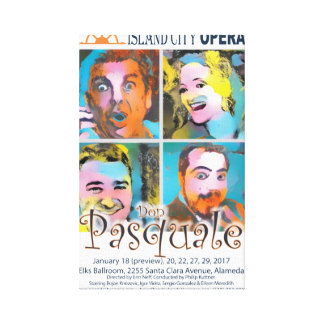 Island City Opera Don Pasquale Canvas Poster Canvas Print