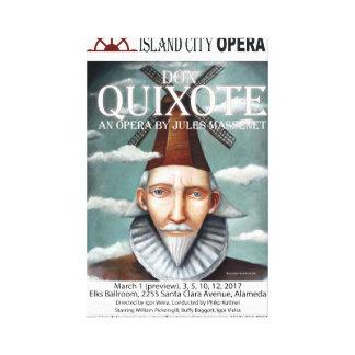 Island City Opera Don Quixote Canvas Poster Canvas Print