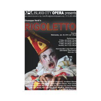 Island City Opera Rigoletto Canvas Poster Canvas Print