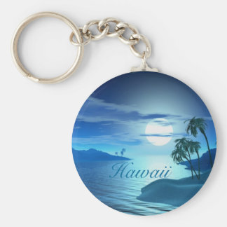island cove-Hawaii Basic Round Button Key Ring