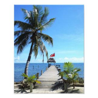 Island diving pier photograph