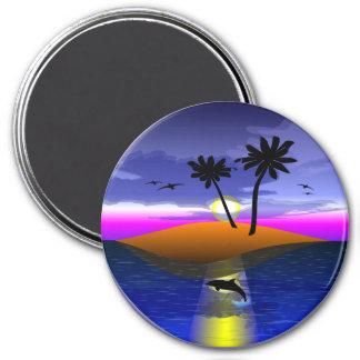 Island Dreams Round Magnet Fridge Magnets