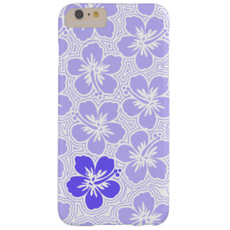Island Floral Hawaiian Accent Hibiscus Pinstriped Barely There iPhone 6 Plus Case