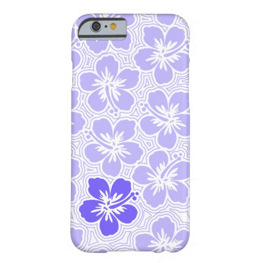Island Floral Hawaiian Accent Hibiscus Pinstriped Barely There iPhone 6 Case