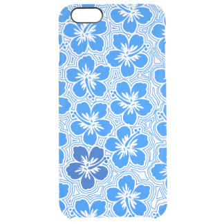 Island Floral Hawaiian Accent Hibiscus Pinstriped iPhone 6 Plus Case