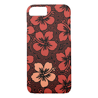 Island Floral Hawaiian Accent Hibiscus Pinstriped iPhone 7 Case