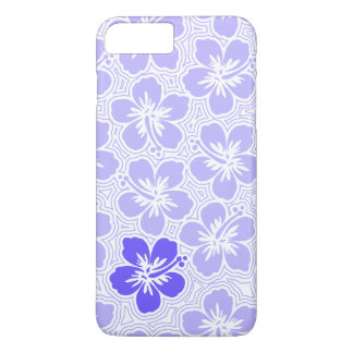 Island Floral Hawaiian Accent Hibiscus Pinstriped iPhone 7 Plus Case