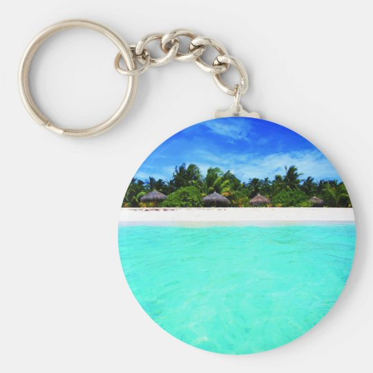 Island from the sea key ring