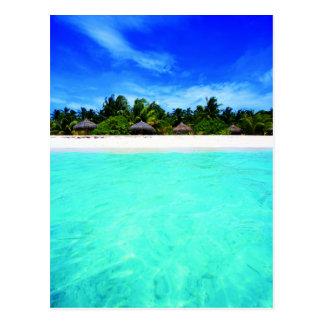 Island from the sea postcard