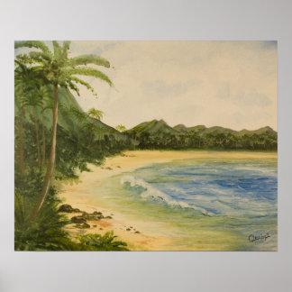 Island Getaway Landscape Poster