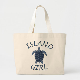 island girl blue turtle summer vacation tropical bags