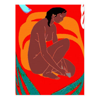 Island Girl, Hawaii, Tahiti Postcard