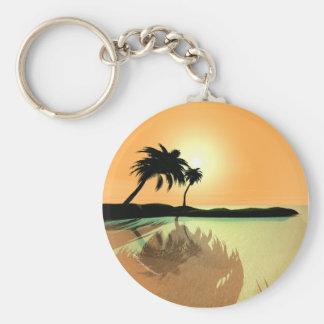 Island Gold Key Ring