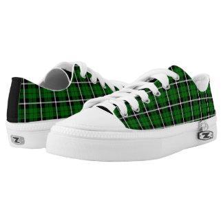 Island green plaid white/black stripe low tops