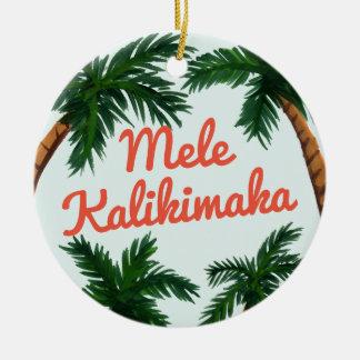 Island Greeting Christmas Ornament