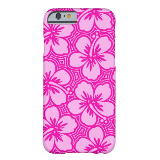 Island Hibiscus Hawaiian Pinstriped Floral Barely There iPhone 6 Case