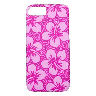 Island Hibiscus Hawaiian Pinstriped Floral iPhone 7 Case